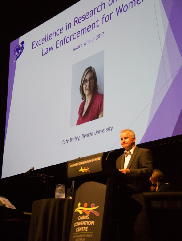 1.17 Acknowledging Excellence in Research on Improving Law Enforcement for Women winner Cate Bailey, who was unable to be present for the awards ceremony_preview